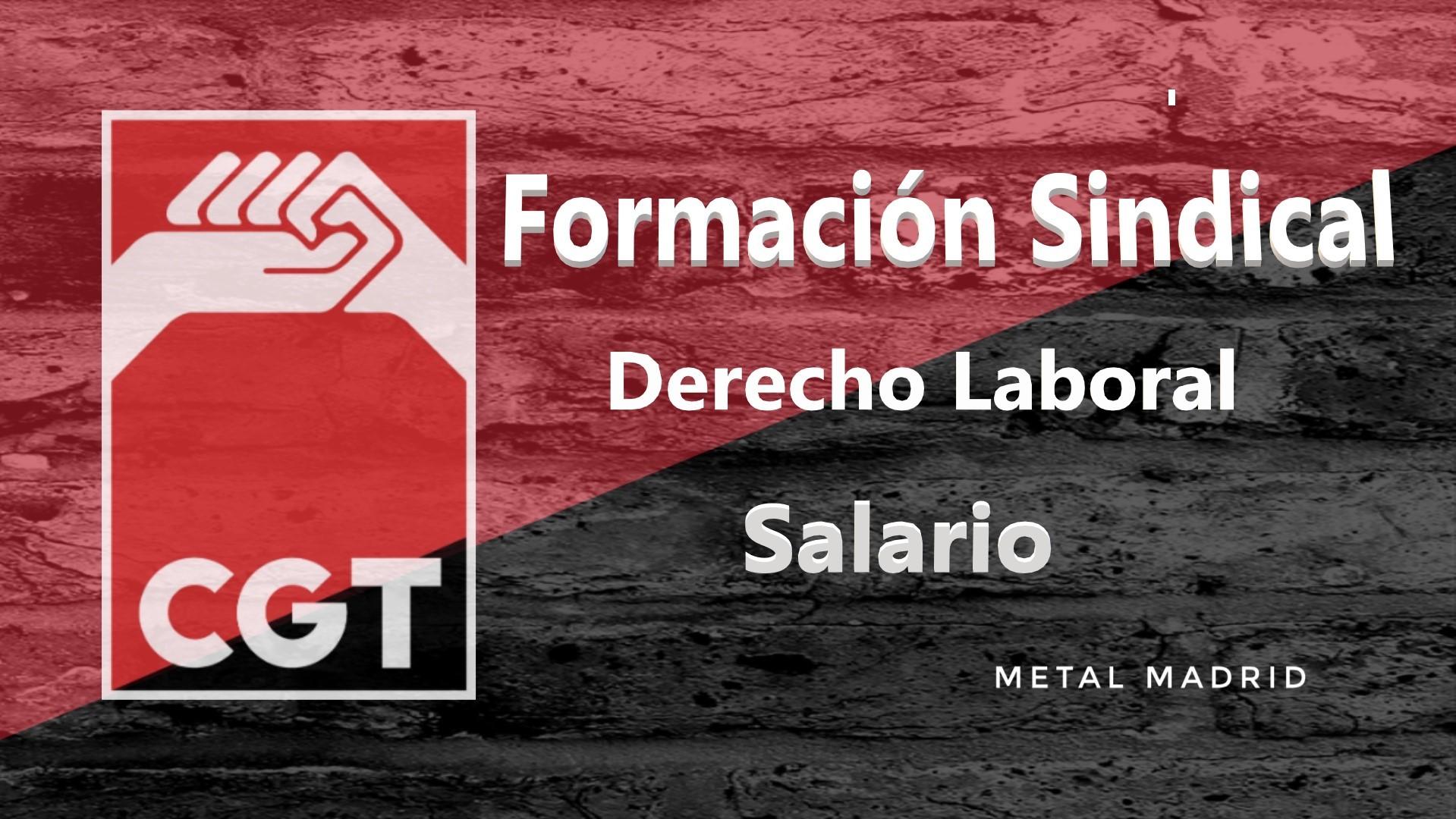 Formación: Derecho laboral: Salario